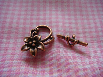 Toggle - Flower (Copper)