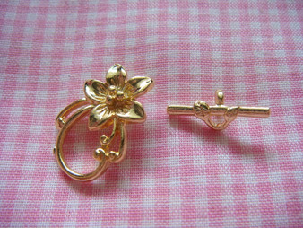 Toggle - Flower (Gold)