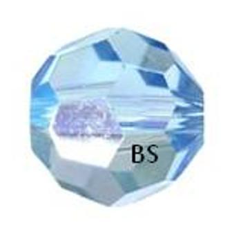 Swarovski 5000 Aquamarine AB Round Bead