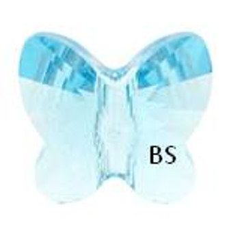 Swarovski 5754 Butterfly Bead Aquamarine 6mm