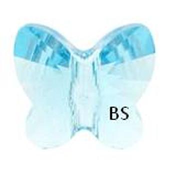 Swarovski 5754 Butterfly Bead Aquamarine 6mm