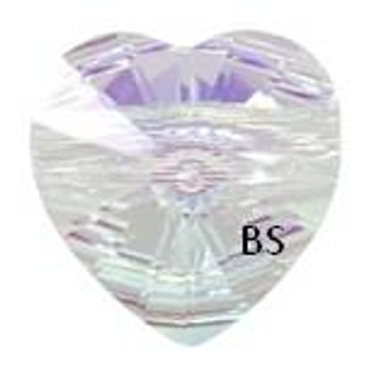 Swarovski 5942 Large Hole Heart Bead Crystal AB 14mm