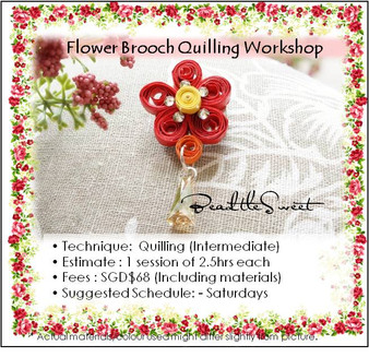 Paper Quilling Flower Brooch Workshop (Intermediate)