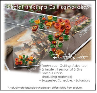 Photo Frame Paper Quilling Workshop (Advance)