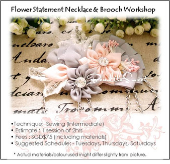Flower Statement Necklace and Brooch Workshop