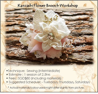 Kanzashi Flower Brooch Workshop