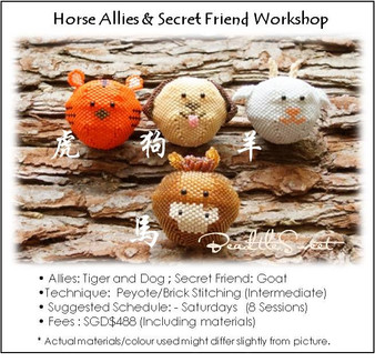 Jewelry Making Course : Hobart the Horse Allies and Secret Friend Workshop