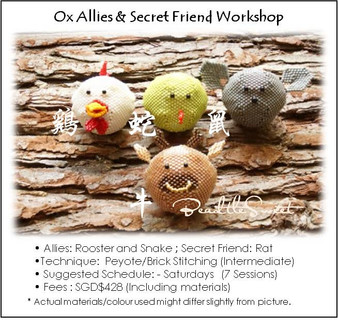 Jewelry Making Course : Oscar the Ox Allies and Secret Friend Workshop