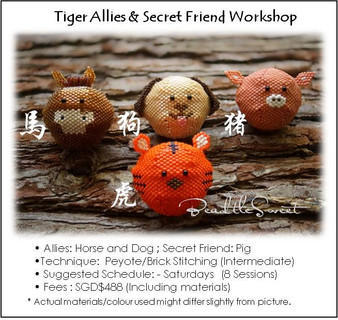 Jewelry Making Course : Tiger Allies and Secret Friend Workshop