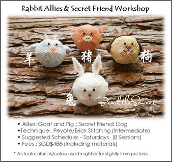 Jewelry Making Course : Rabbit Allies and Secret Friend Workshop