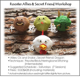 Jewelry Making Course : Rooster Allies and Secret Friend Workshop