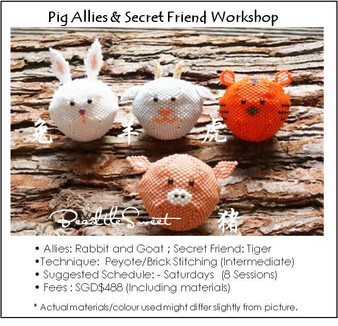 Jewelry Making Course : Pig Allies and Secret Friend Workshop