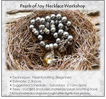 Jewelry Making Course : Pearls of Joy Necklace Workshop