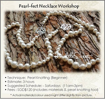 Jewelry Making Course : Pearl-fect Necklace Workshop