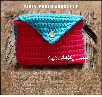 Bags Crochet Course: Paris Pouch Workshop