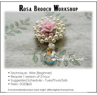 Jewelry Making Course : Rosa Brooch Workshop