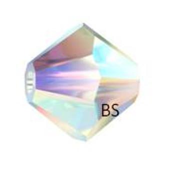 3mm Swarovski 5328 Crystal AB 2X Bicone Bead