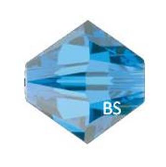3mm Swarovski 5328 Capri Blue Bicone Bead