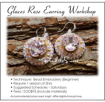 Jewelry Making Course : Glaces Rose Earring Workshop