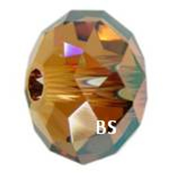 Swarovski 5041 Briolette Bead Crystal Copper 18mm