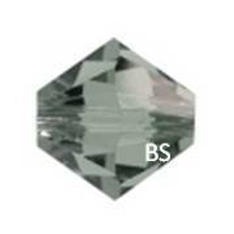 4mm Swarovski 5328 Black Diamond Bicone Bead