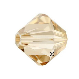 5mm Swarovski 5328 Crystal Golden Shadow Bicone Bead