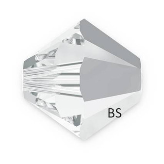 5mm Swarovski 5328 Crystal Light Chrome Bicone Bead