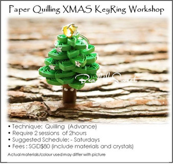 Paper Quilling Course : Xmas Tree  Workshop