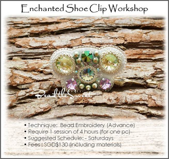 Bead Embroidery Course : Enchanted Shoe Clip Workshop