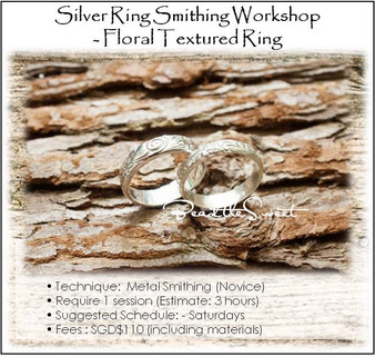 Metal Smithing Course : Floral Textured Ring Workshop