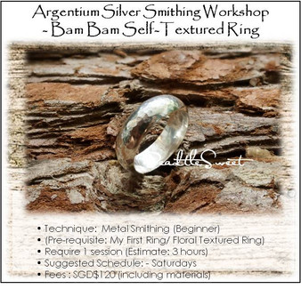 Metal Smithing Course : Bam Bam Self-Textured Ring Workshop