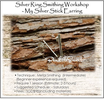 Metal Smithing Course : My Stick Earring Workshop
