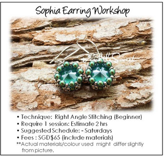 Jewelry Making Course : Sophia Earring Workshop