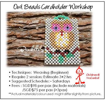 Beads Cardholder Making Course : Owl Cardholder