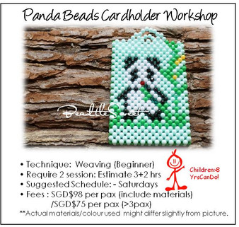 Beads Cardholder Making Course : Panda Cardholder