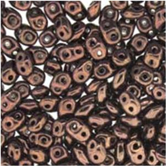 SuperDuo Beads 2.5X5MM Jet Bronze