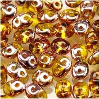 SuperDuo Beads 2.5X5mm Amber Capri Gold