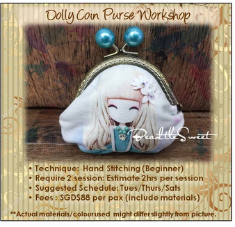 Clutch Bag Sewing Course : Dolly Coin Purse Workshop