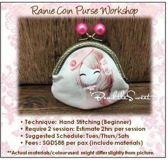 Clutch Bag Sewing Course : Rainie Coin Purse Workshop