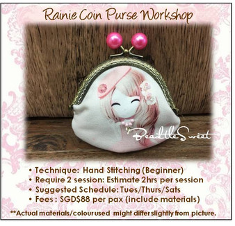 Clutch Bag Sewing Course : Rainie Coin Purse Workshop