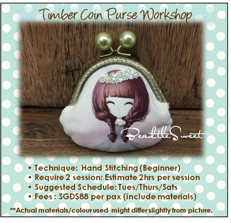 Clutch Bag Sewing Course : Timber Coin Purse Workshop