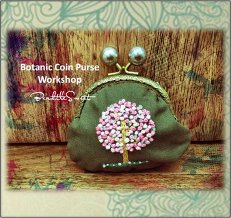 Clutch Bag Embroidery Sewing Course : Botanic Coin Purse Workshop
