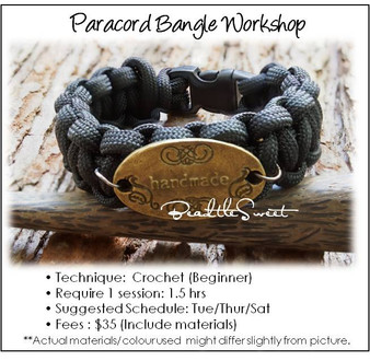Jewelry Making Course : Paracord Bangle Workshop