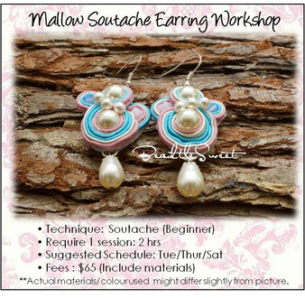 Mallow Soutache Earring Workshop