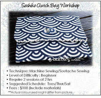Sashiko Clutch Bag Sewing Workshop