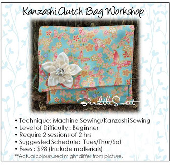 Kanzashi Clutch Bag Sewing Workshop
