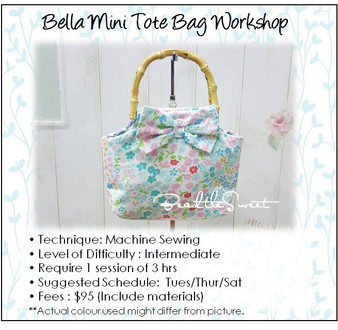 Bella Mini Tote Bag Workshop