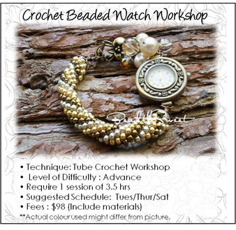 Crochet Beaded Watch Workshop