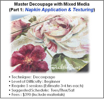 Master Decoupage with Mixed Media (Part 1)