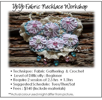 Jewelry Making Course : YoYo Fabric Necklace Workshop